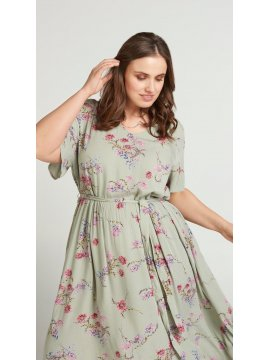 Aster, robe fleurie grande taille, Zizzi profil