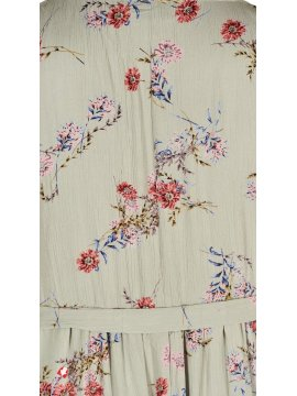 Aster, robe fleurie grande taille, Zizzi zoom dos