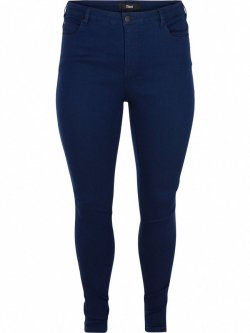 Jean slim Amy, dark blue, marque Zizzi