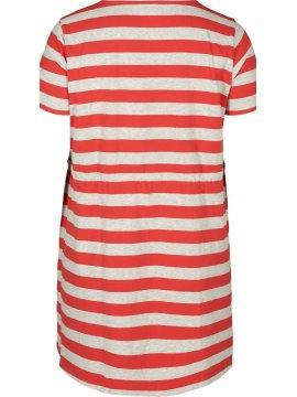 Maryse, robe rayée rouge, grande taille, Zizzi rouge zoom profil