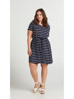 robe rayée grande taille Zizzi