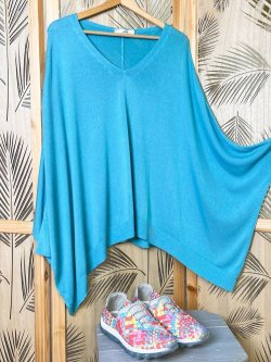 Florence, top original maille, grande taille