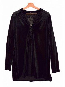 tunique jersey velours noir 4