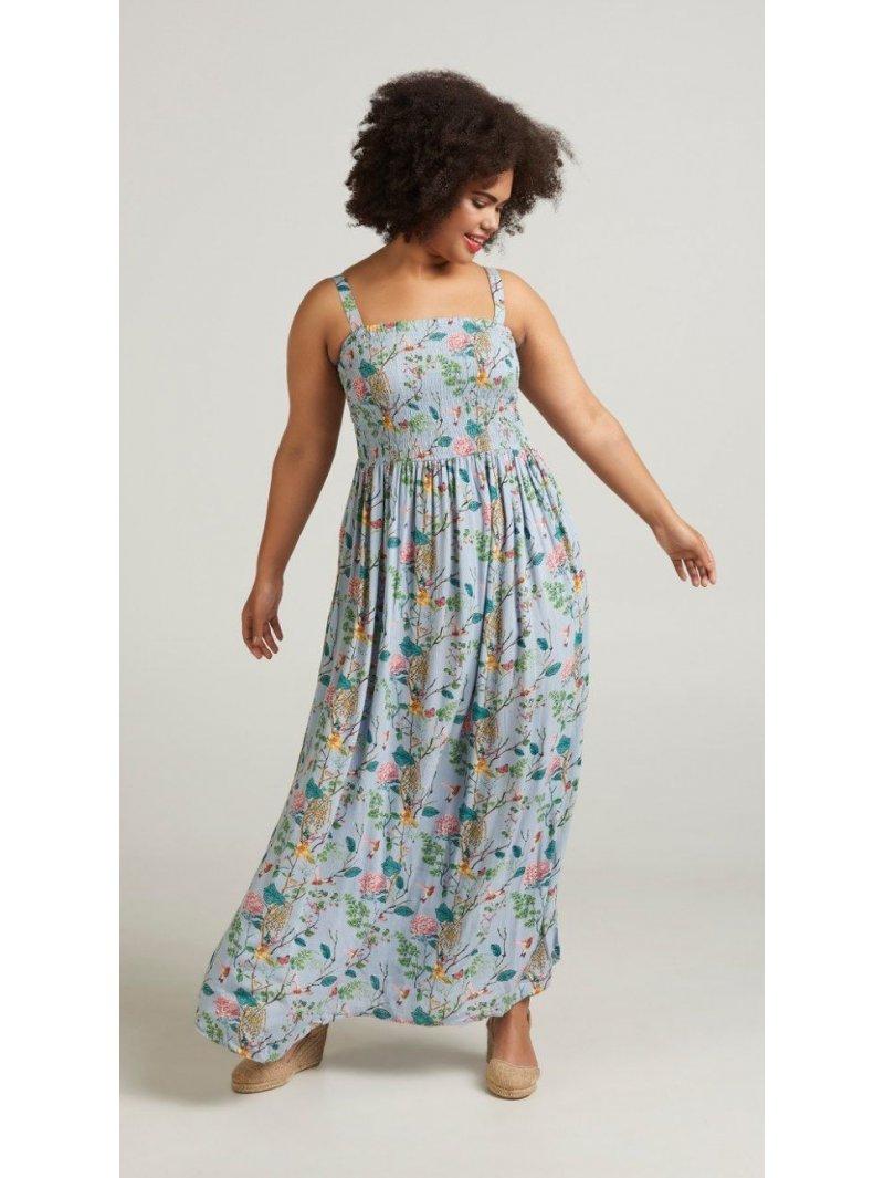 Marina, robe longue, grande taille, marque Zizzi arriere