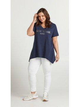 T-shirt Mira, New York, grande taille, marque Zizzi face