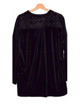 tunique jersey velours noir 5