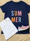 T-shirt Summer, grande taille, marque Zizzi face