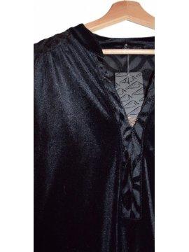 tunique jersey velours noir 6
