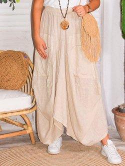 Amalia, jupe lin, grande taille, Talia benson