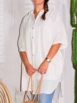 Jaipur, chemise lin tissé, JS Millenium - blanc