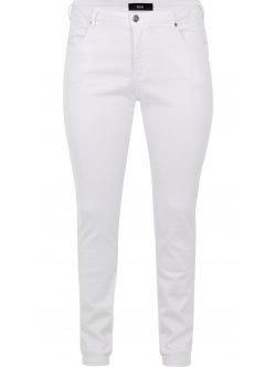 Jean blanc grande taille