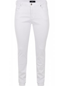 Jean Emily, blanc, grande taille Zizzi blanc face