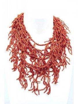 copy of Sautoir perles corail Palme rouge