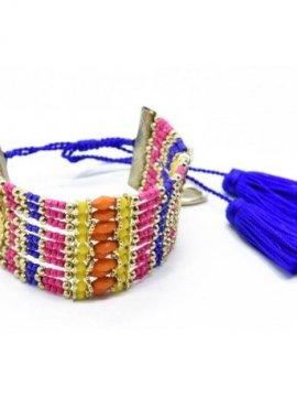Bracelet manchette bohème perles