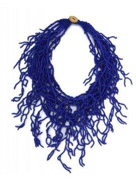 copy of Sautoir perles corail Palme bleu