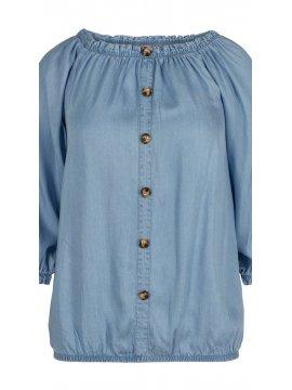 Yasmine, top jean, grande taille, marque Zizzi face