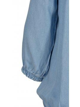 Yasmine, top jean, grande taille, marque Zizzi manche