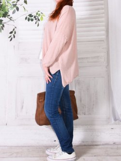 Knossos, pull en maille fine, marque Provencal Days - rose
