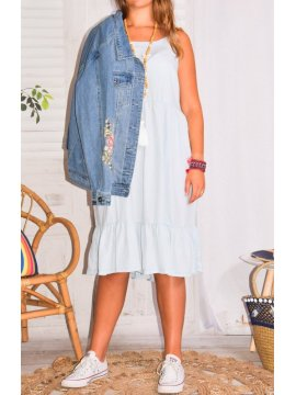 Fanny, robe fines bretelles, grande taille Zizzi profil