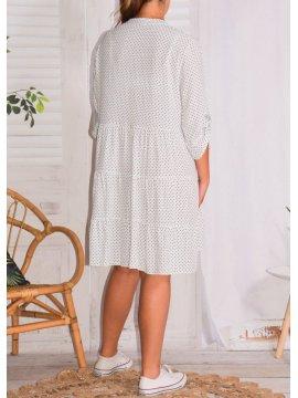 Robe Alison pois, grande taille 51456