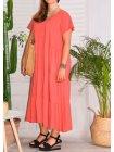 Cerise, robe grande taille romantique rose profil