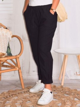 Pantalon Bruges marque Lagenlook zoom noir