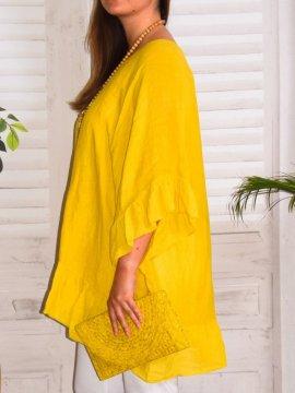 Eulalie tunique bohème, Provencal Days jaune coté 2