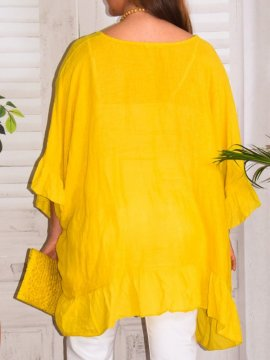 Eulalie tunique bohème, Provencal Days jaune zoom dos