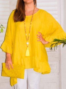 Eulalie tunique bohème, Provencal Days jaune