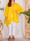 Eulalie tunique bohème, Provencal Days jaune 56