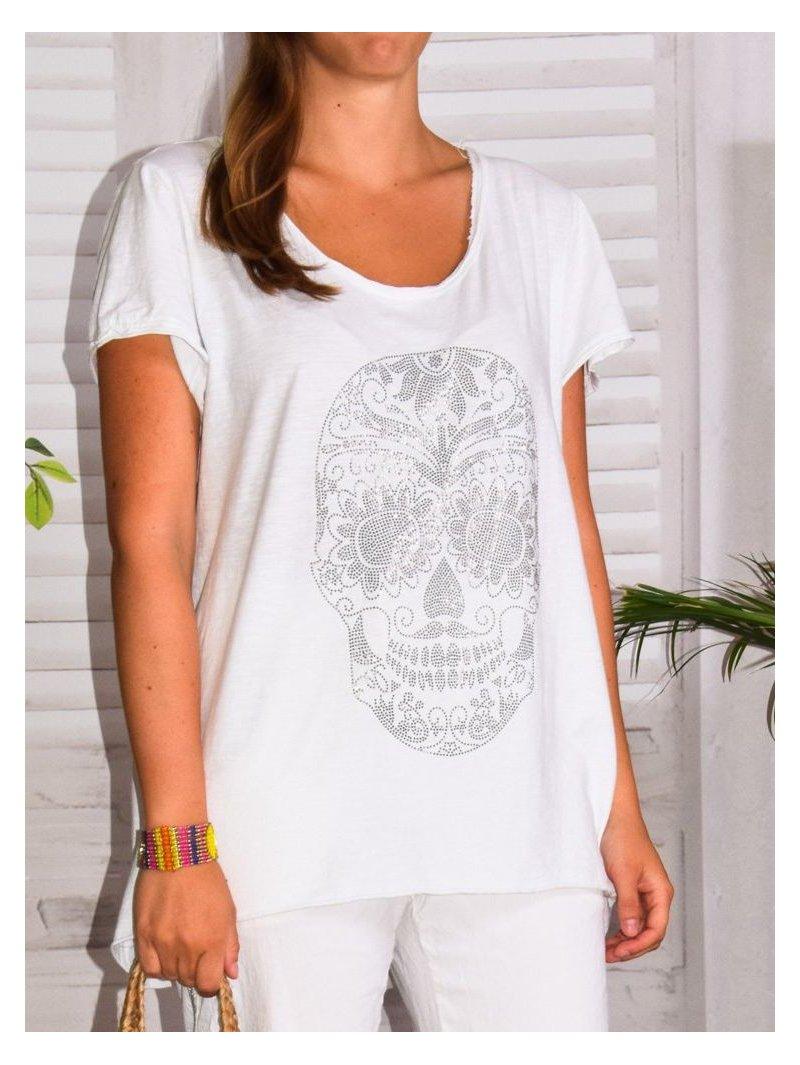 Tee shirt bohème Skull grande taille