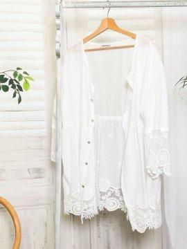 Nina, chemise bohème dentelle grande taille