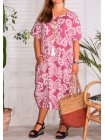 Hope, robe ty and dy, grande taille rose face