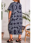 Hope, robe ty and dy, grande taille marine dos