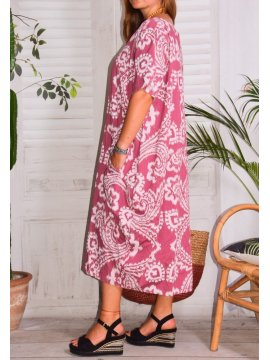 Hope, robe ty and dy, grande taille rose profil