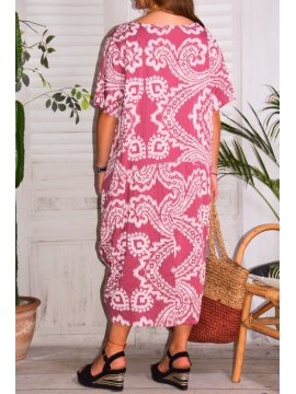 Hope, robe ty and dy, grande taille rose dos