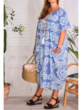 Hope, robe ty and dy, grande taille bleu profil