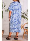 Hope, robe ty and dy, grande taille bleu dos