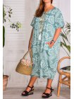 Hope, robe ty and dy, grande taille vert profil