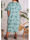 Hope, robe ty and dy, grande taille vert dos