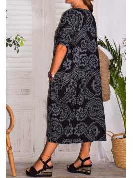 Hope, robe ty and dy, grande taille noir profil