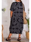 Hope, robe ty and dy, grande taille noir dos