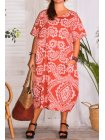 Hope, robe ty and dy, grande taille rouge face