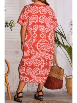 Hope, robe ty and dy, grande taille rouge dos