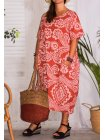 Hope, robe ty and dy, grande taille rouge profil