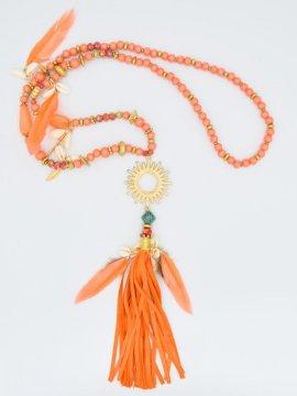Sautoir Soleil - orange