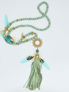 Sautoir Soleil - turquoise