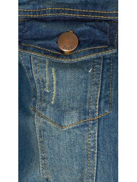 Veste en jean, marque Zizzi zoom poche