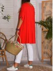 Paula, top viscose, grande taille rouge dos