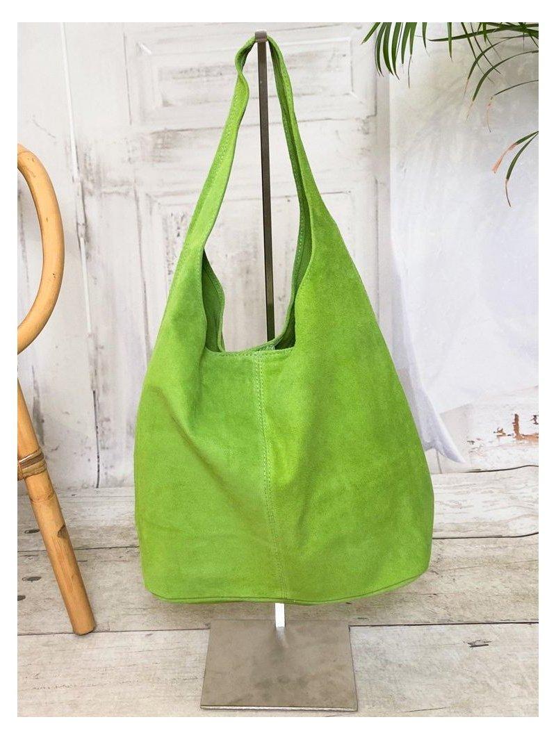 Sac Ninon, nubuck Lagenlook vert